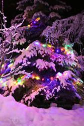 Snowy Yule Tree by RavenMoonDesigns