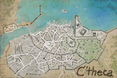 Rough Map of the City of C'theca by magbhitu