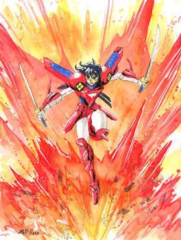 Fanart - Ryo of the Wildfire by KelliRoos