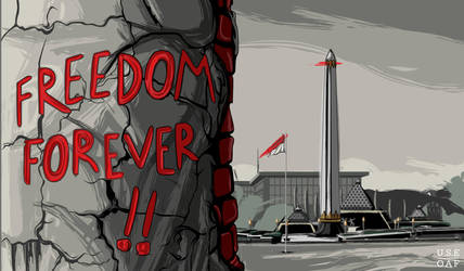 FREEDOM FOVEREVER - TUGU PAHLAWAN (Vector for Heri by Yusuf-Graphicoholic