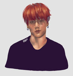 Studies day #2 - Jungkook painting by fox-bro