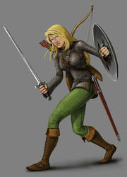 Morgan Ironwolf by quellion