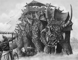 Ashanti Legions Facing Leviathan Nomads by quellion