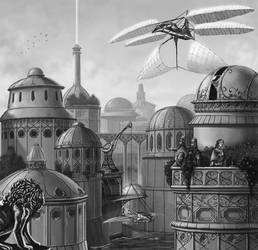 Gnostic Cabal City by quellion