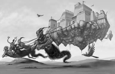 Kassobari Khanate Skyland Castle by quellion