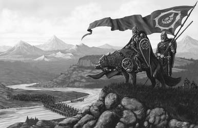 Isenwolff Leading His Army by quellion