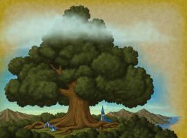 Ancestral Spirit Tree by quellion