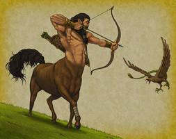 Centaur Hunter by quellion