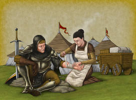 Second Son's Army Camp by quellion