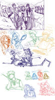 The Big Four: Sketch Dump by ZLynn