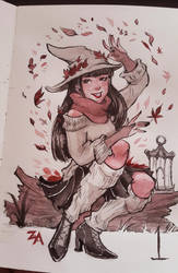 Day 1: Seasonal Witch by ZLynn