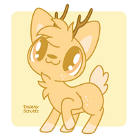 Friendly Deer by Daieny