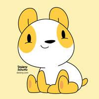Yellow Panda by Daieny