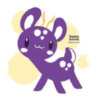 Purple Deer by Daieny