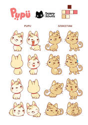Pupu and Sebastian Ref Sheet by Daieny