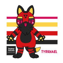 Tyrhael - Chirukaeru Fursona by Daieny