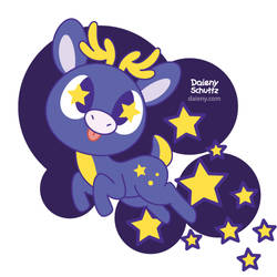 Starry Deer by Daieny