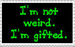 Not Weird stamp by M-I-R-I-E-L