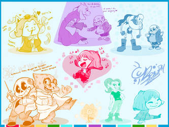 Undertale Rainbow Hued Moments by Smohbitz
