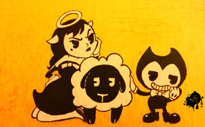 Bendy and Alice Angel In: Count Your Sheep by Smohbitz