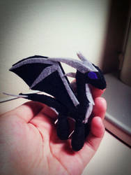 Mini Enderdragon :3 (felt doll) by minecraftmobs456