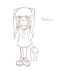 Delilah- Toddler Image Sketch by ThermalSky