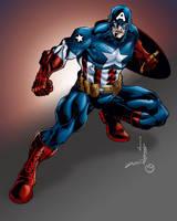 Captain America by MarcBourcier