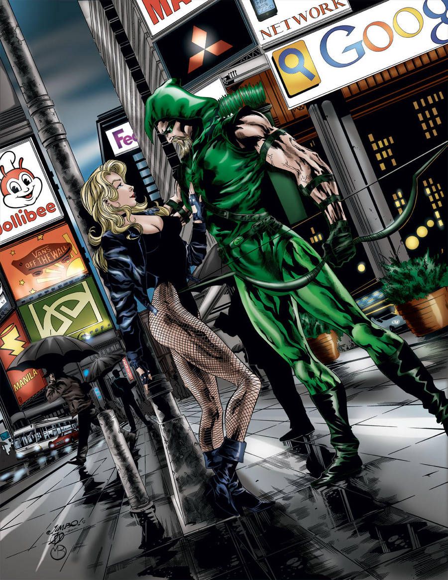 Black Canary and Green Arrow by MarcBourcier