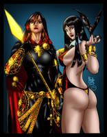 Magdalena and Vampirella by MarcBourcier
