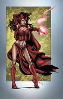 Scarlet Witch by MarcBourcier