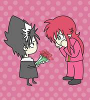 Kurama x Hiei San Valentin by Miyukx