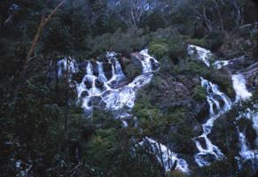 Australian bush waterfall by otherunicorn-stock