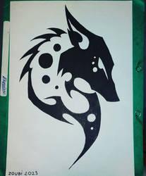 tatouage loup by mathieu-nightray