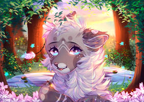 Flowers and Fireflies by Anoixi