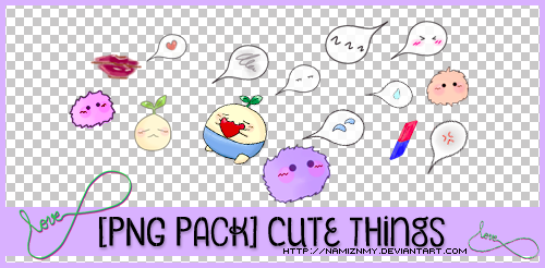 [PNG Pack] Cute Things by namiznmy