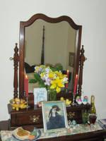 Ostara 2012 Altar - Alternate View by wanderingmage