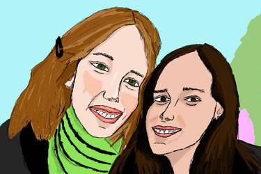 Me and Leonora by o0Eline0o
