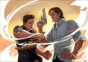 SPN-Sam+Dean by fruttayo