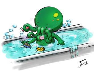 Bath time by wampir00