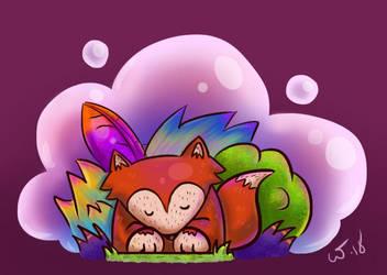 SleepyFox by wampir00