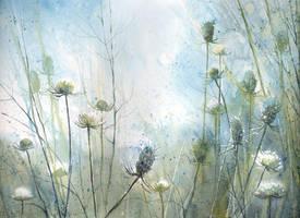 Blue meadow by nibybiel