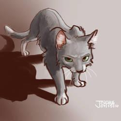 Stalking cat sketch by Japauli