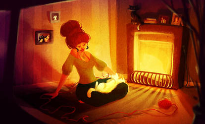 By the fire by lolila