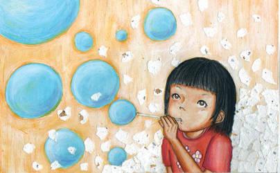 soap bubbles by yukarikaneko