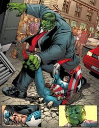 Hulk vs Captain by Rennee