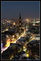Hamburg at Night 2008 - III by W0LLE
