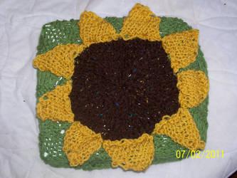 Sunflower Bar Stool Cover 1 by catluvr2
