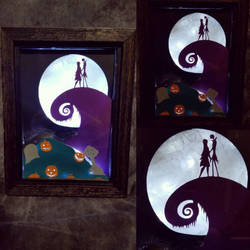 A Romatic Nightmare Shadow box by GenieMiller