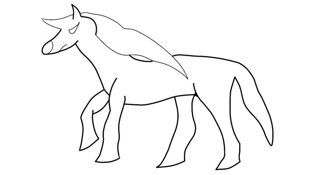 My first horse by RavenHound353