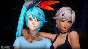 [Sims 4] Hyrule Warriors - Lana and Cia by Tx-Slade-xT
